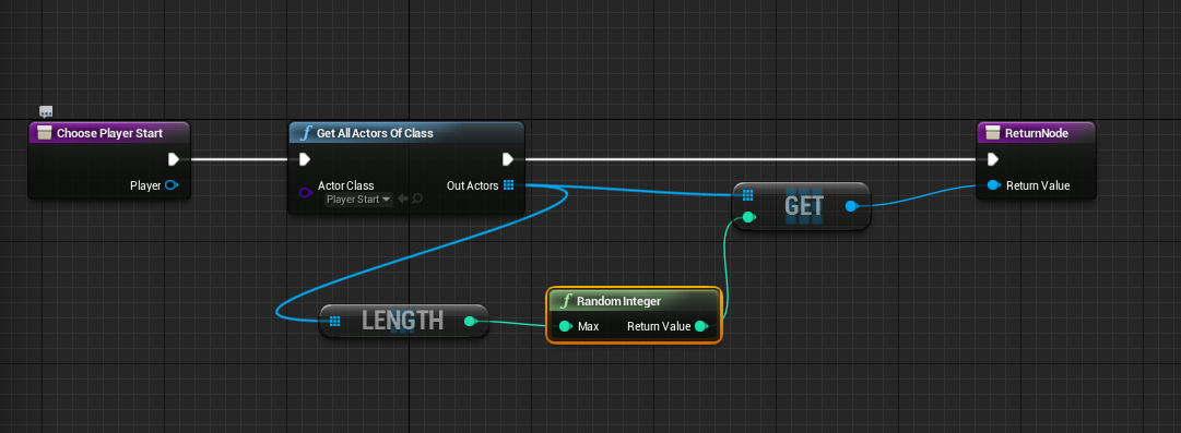 Simple randomized player start in ue4 in blueprints fictorum dev blog bpspawn random malvernweather Image collections