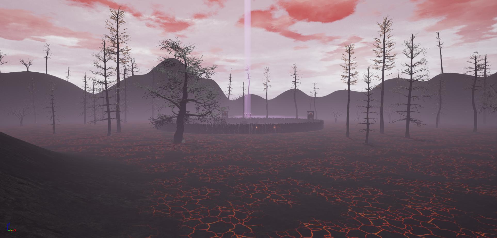 Lava mountain in the game Fictorum