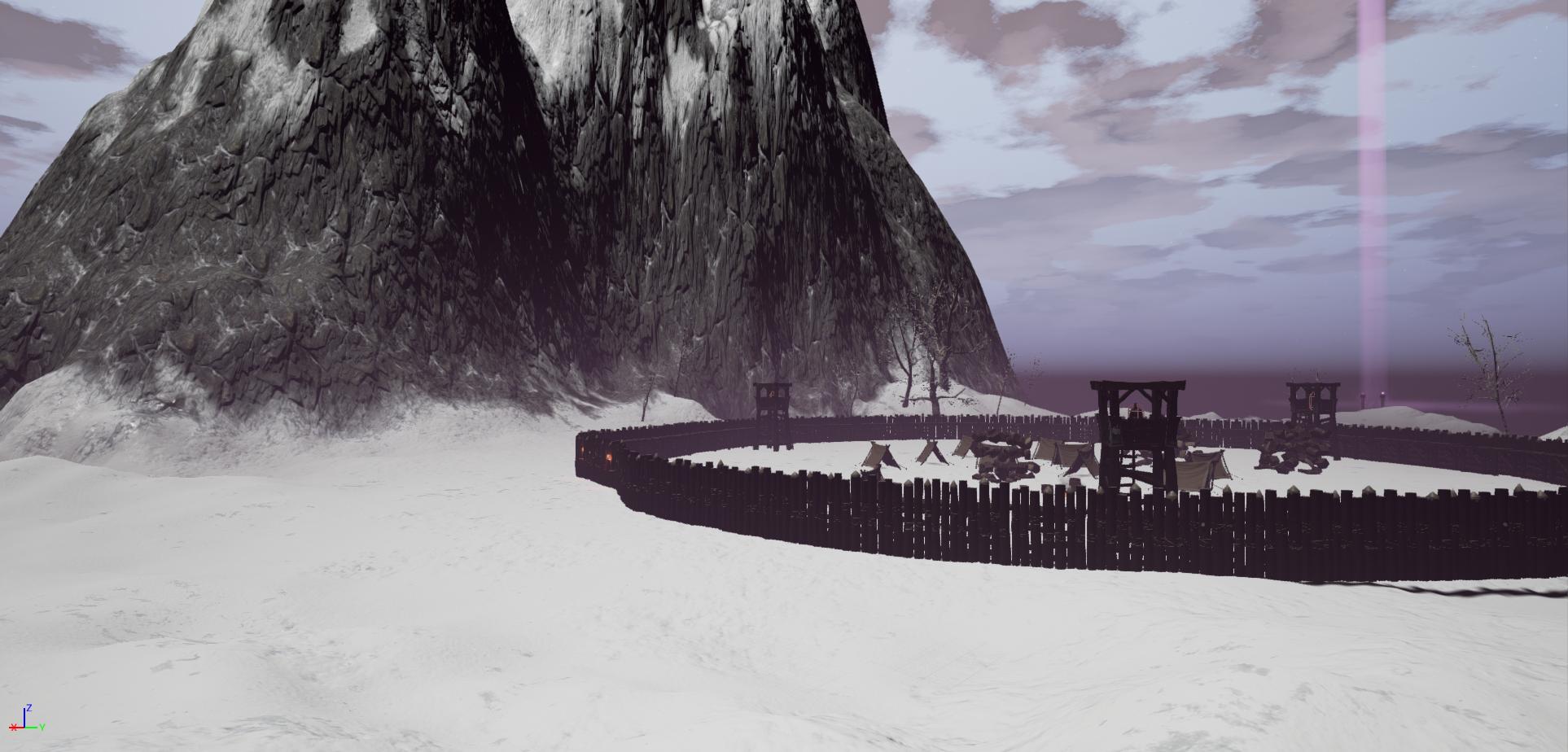 Snowy landscape in the game Fictorum