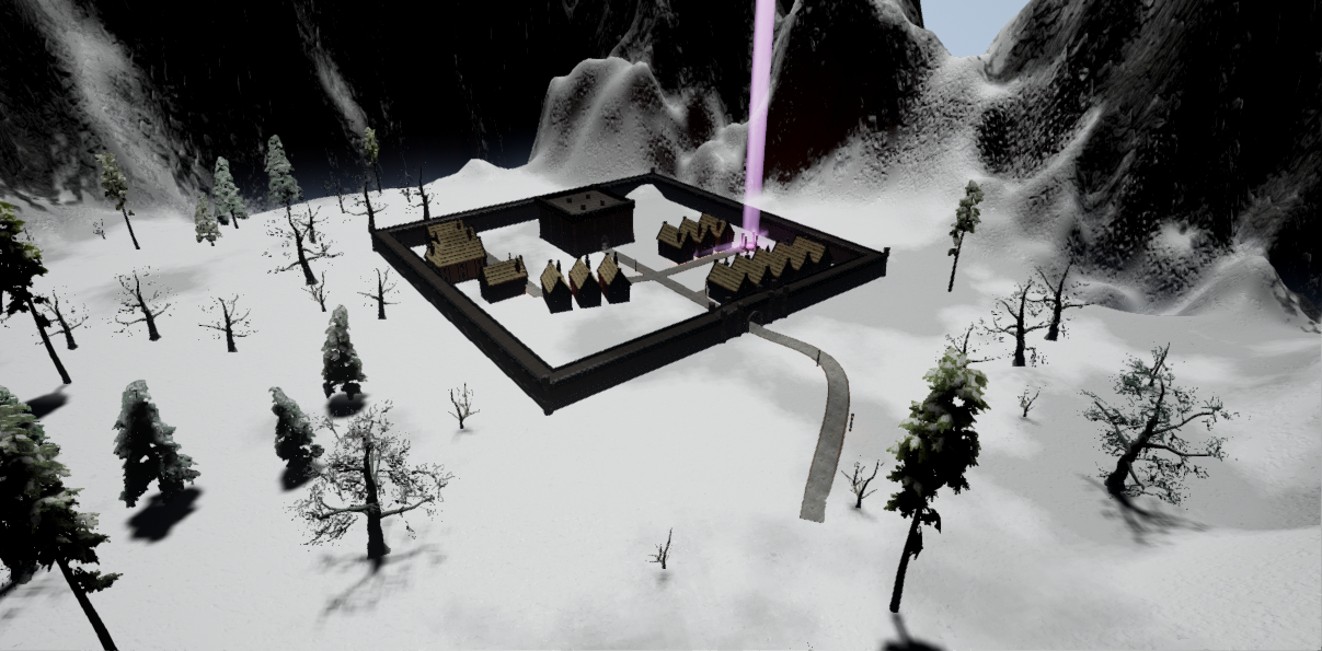 Snowy castle within the action RPG Fictorum