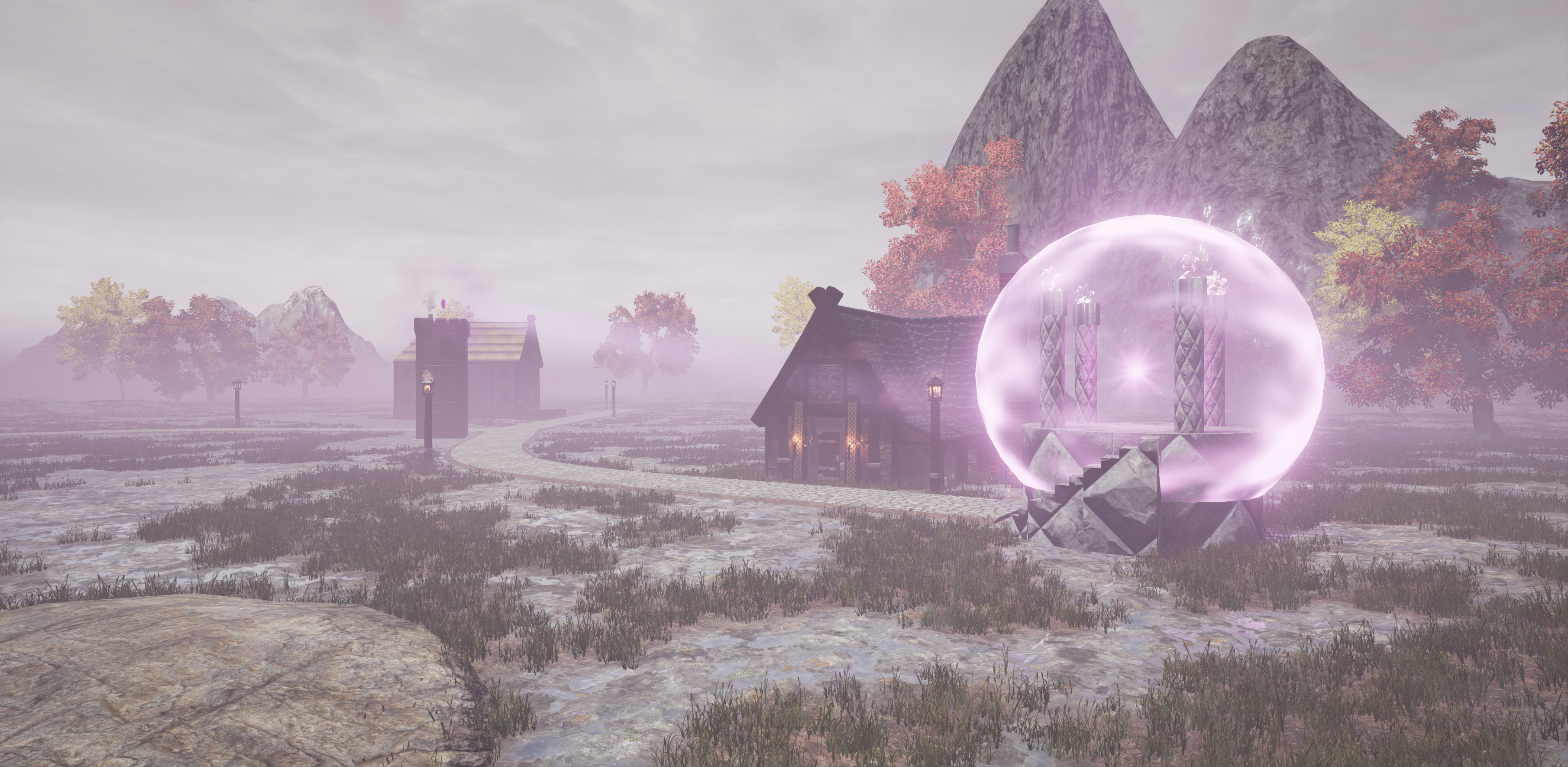 Showcasing sentinel towers and the aegis in the action RPG Fictorum